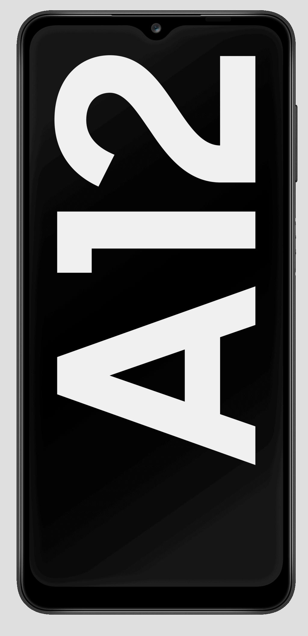 Samsung_Galaxy_A12_Black_Front_Logoscreen_RGB